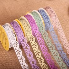 1pc self adhesive silver purple gold pink green blue orange DIY scrapbooking wedding plstic mask sticker crafts(China)