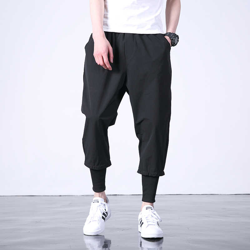Hot Western Diablo Style Fashion Individuality Men's Jogger Ankle-Length Trousers Hip Hop Autumn Casual Street Male Harem Pants