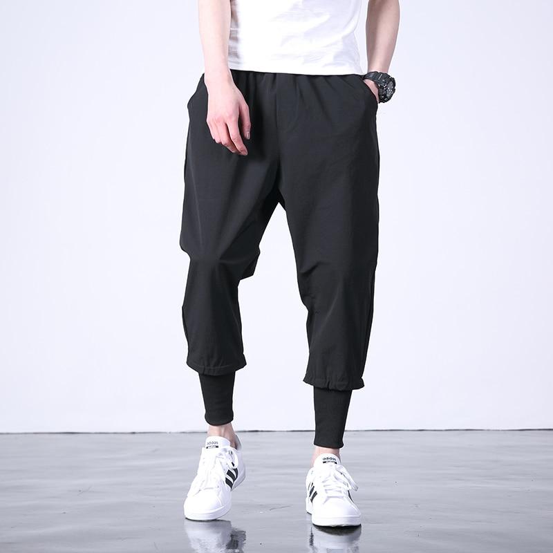 Hot Western Diablo Style Fashion Individuality Men's Jogger Ankle-Length Trousers Hip Hop Autumn Casual Street Male Harem Pants