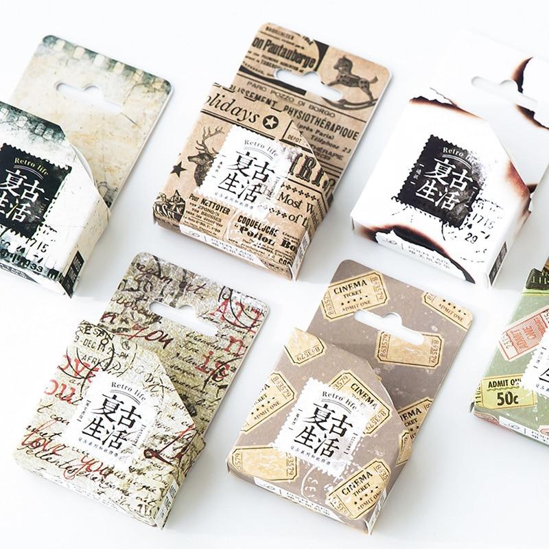 1 pcs DIY Japanese Paper Washi Tape Reto NewPapers Masking Tape Decorative Adhesive Tape  Stickers Size 15mm*7m