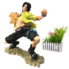 лучшая цена Anime One Piece Monkey . D . Luffy Ace Cartoon Model Doll PVC Action Figure Toy for Children Collection Birthday Gift