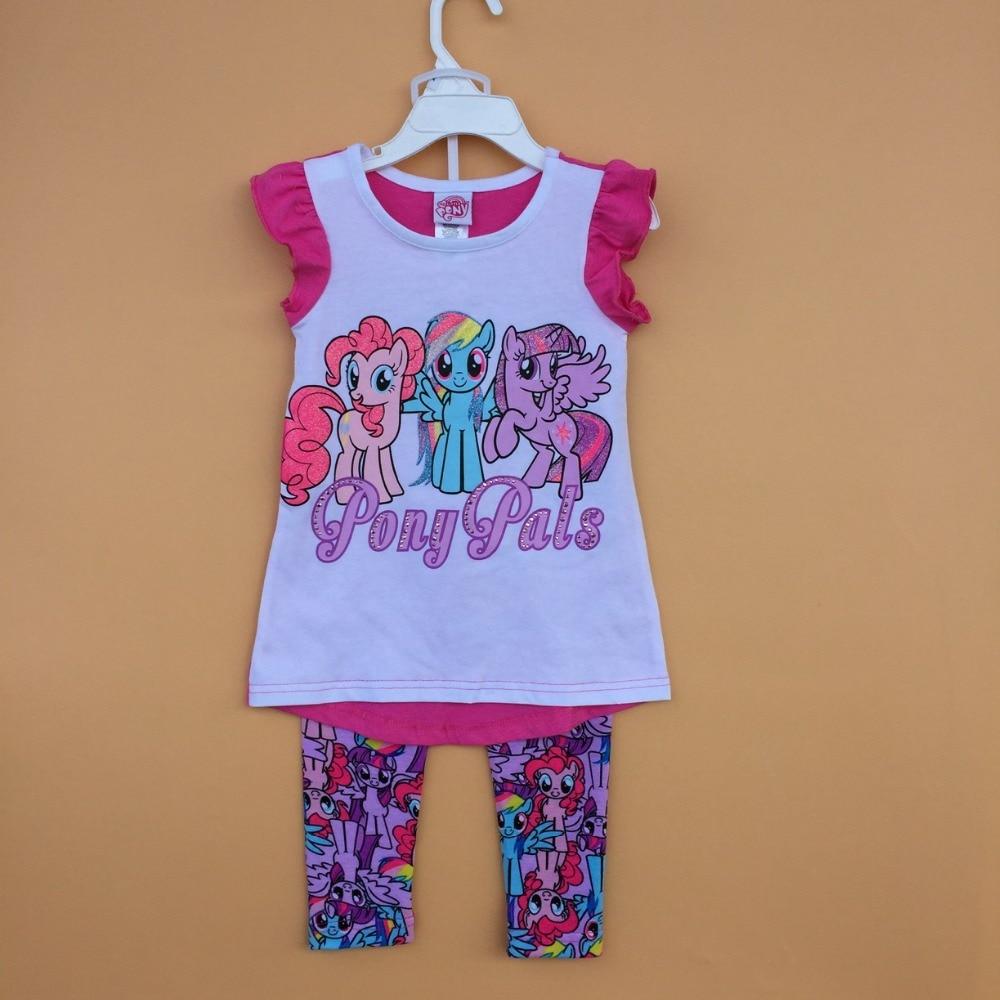 Little Pony Set Girls Summer Top And Leggings
