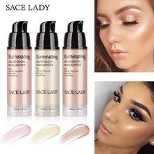 SACE LADY Face Highlight Illuminator Shimmer Soft Light Liquid Long-lasting Brighten Bronzer Cream Profissional Highlighter