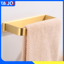 Towel Ring Holder Gold Brass Bar Single Creative Washroom Rack Hanging Wall Mounted Bathroom Accessories