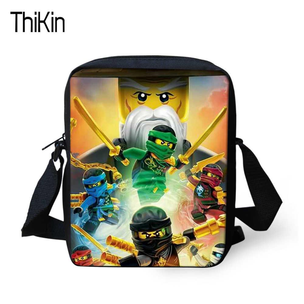 THIKIN Cartoon Ninjago Printing Kids Messenger Bags For Kindergarten Boys  Crossbody Bag Children Mini Anime Shoulder f00b62bbe6180