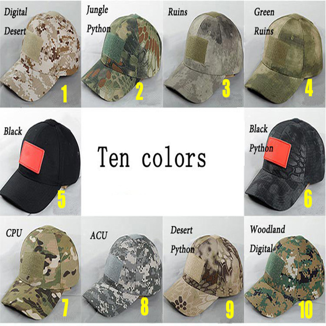 835ab69afbeb41 Camouflage Outdoor Tactical Military Cap Hunting Caps Gorra De Caza Military  Army Hat Kryptek Camo CS