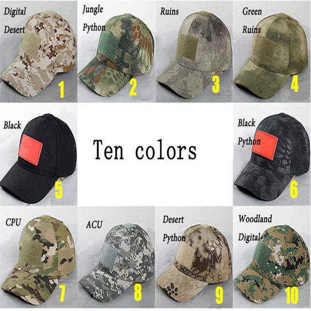 Camouflage Outdoor Tactical Military Cap Hunting Caps Gorra De Caza Military  Army Hat Kryptek Camo CS de816b5344a5