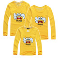 2015 autumn mother daughter matching clothes children t shirts spongebob family look clothing father son outfits plus size