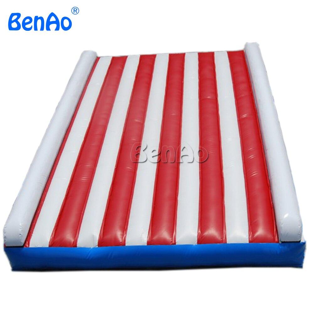 GA105 BENAO livraison gratuite + souffleur + Kits de réparation PVC pas cher prix tapis gonflable de gymnastique de voie d'air de dégringolade, tapis de gymnastique gonflable