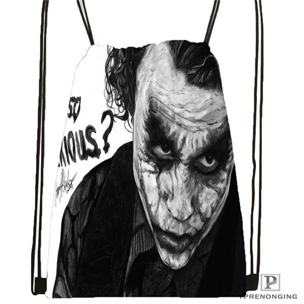 Custom The-joker-batman-arkham  Drawstring Backpack Bag Cute Daypack Kids Satchel (Black Back) 31x40cm#180611-03-113