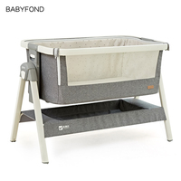 Valdera Crib Folding European Baby Bed Multifunctional Newborn Crib