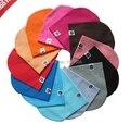 1 unids, envío gratis 22 colores al por menor del bebé del resorte del Color sólido del casquillo del sombrero para niños bebé niña niño gorros