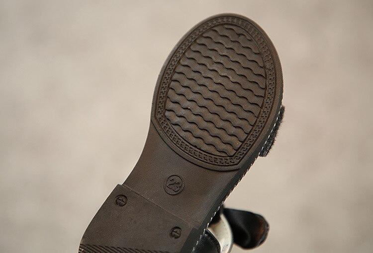 New Fashion Leopard Print Children Sandals Girls Summer Shoes Bowknot Flat Sandals Kids Girls Shoes