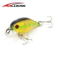Amlucas Lifelike Minnow Floating Fishing Lure 4,3 cm 43g tehisplastist voblerid Crankbait kõva söödaga kalapüügivahend WE51