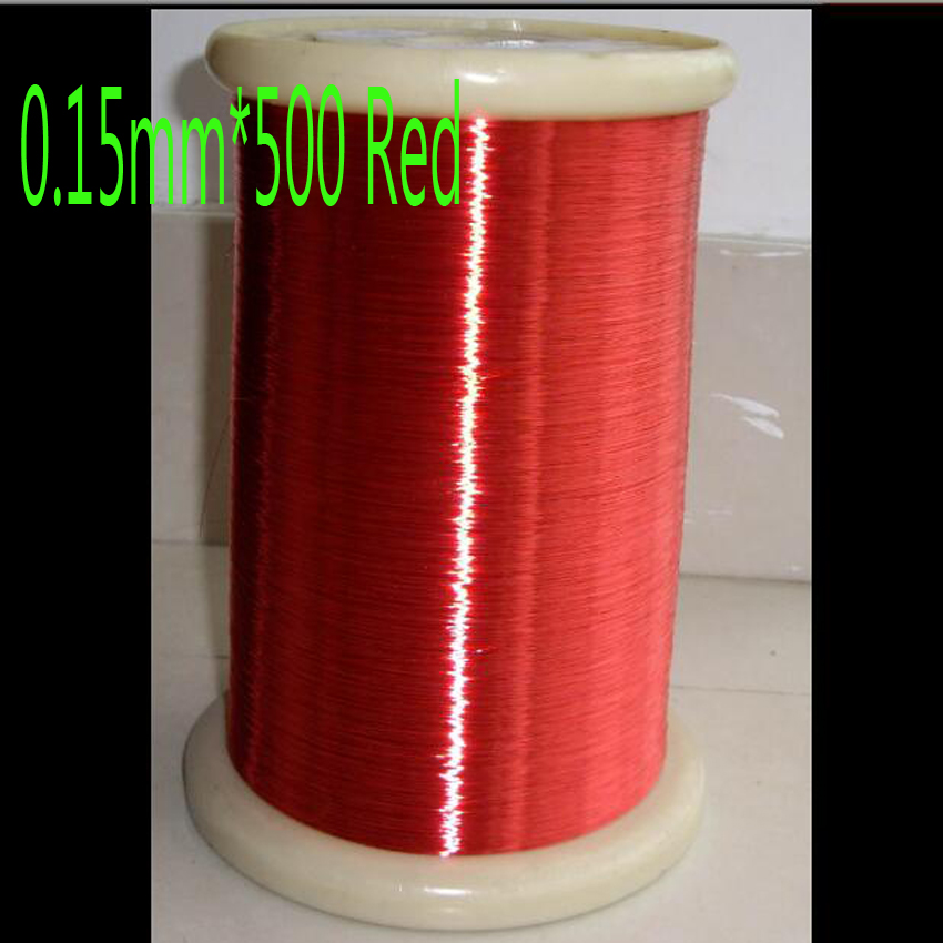 cltgxdd 0 15 mm Polyurethane Enameled Wire QA 1 155 Red Copper wire 500m