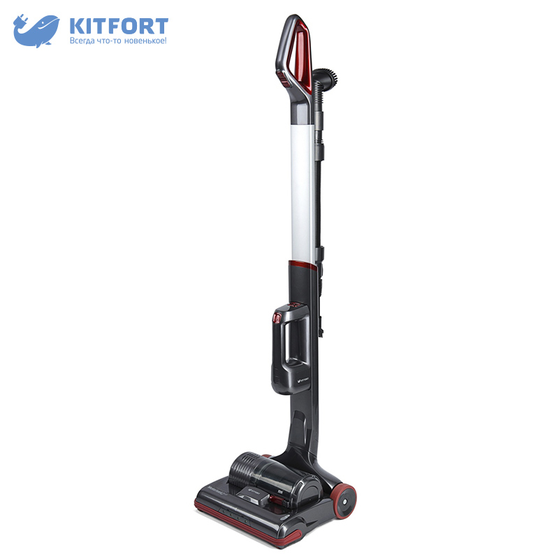 Vertical vacuum cleaner Kitfort KT-527 wireless dustcontainer vacuum cleaner kitfort kt 515 home portable powerful handheld dust collector stick wireless vertical dry cleaning cyclone