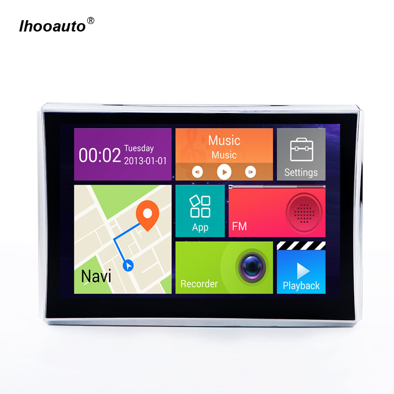 7 inch 1080P Car GPS Navigation Android FM + BT AV-IN Truck GPS Navigation GPS DVR Recorder портативный gps навигатор lk navigation e18 gps