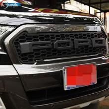 2016 for ford ranger grill ABS black front grill surrounds trim suitable Ford Ranger wildtrak 2016 T7 pickup ranger grill cover