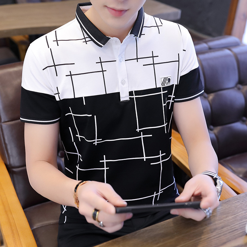 Striped Cotton   Polo   Shirts 2019 Summer Short Sleeve Tops Contrast Color Homme Soft Material Classical Design High Quality Cloth