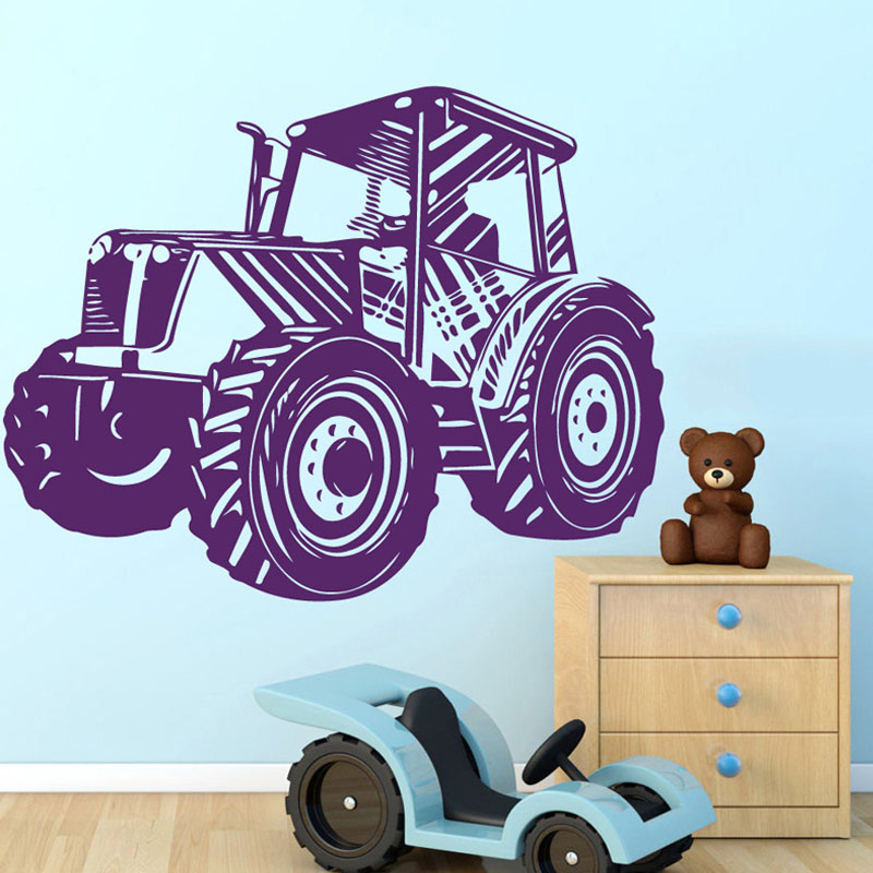 Hot Sale Hot Sale Tractor Wall Stickers Home Decor Vinyl Removable