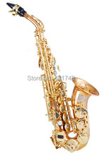 Professional Bb Tone Soprano sax Brass Material with Foambody case Shipping time 8-13 days Woodwind instruments