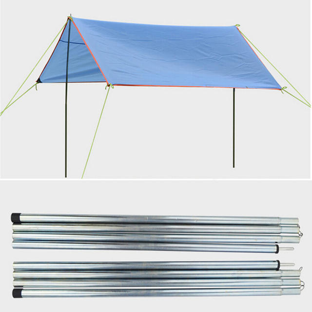 8 Section 2PCS Galvanized Iron Rod For Outdoor Sun Shelter Backup Awning Support