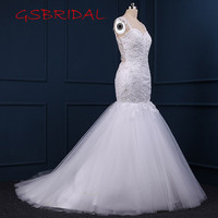 Hot Sale 2017 Elegant Sweetheart Detachable Tail Tailored Wedding Dresses Sleeveless Lace Appliques Backless Sexy Bridal