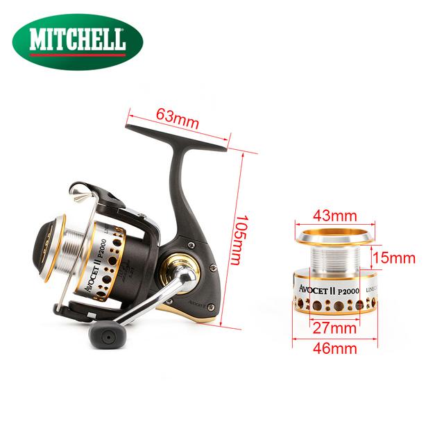 100% Mitchell Brand AV-P 1000 / 2000 / 3000 Full Metal Spinning Fishing Reel 9+1BB Spinner Fishing Carp Wheel 5.2:1