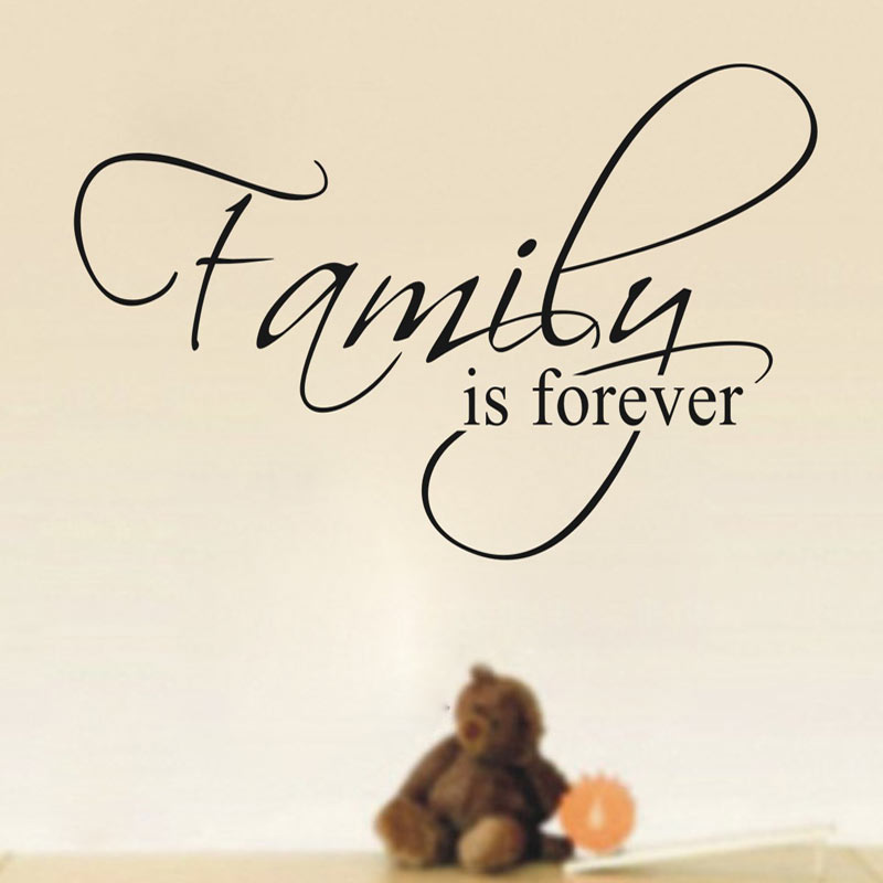 Family Is Forever Home Decor Quote Wall Decals Dining Room Decorative DIY Removable Vinyl Stickers