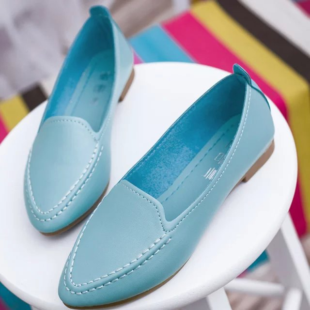 Fashion 2018 Sring Summer Women Casual Flats Pointed Toe Women's Shoes Moccasins Ballet Flats Flat Shoes Ballerina New Loafers 2018 new genuine leather flat shoes woman ballet flats loafers cowhide flexible spring casual shoes women flats women shoes k726