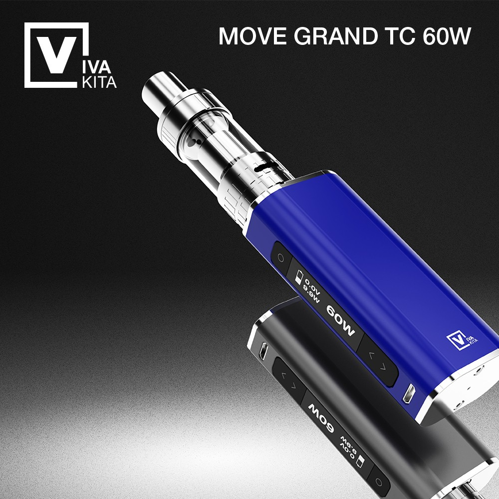 electronic cigarette Move Grand Tc 60W built in 1900mAh box mod Vaporizer 60W Vape 3.0mL vape atomizer 0.25ohm Kanthal coil head