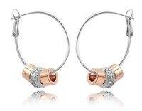 OMH en gros bonheur souvenirs 18 kt or blanc boucles d'oreilles collier bracelet