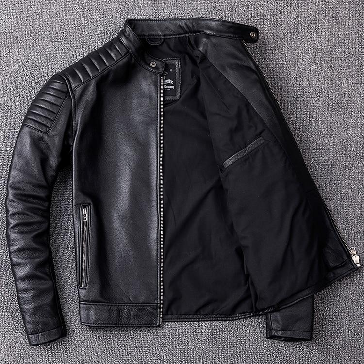 HTB1mpvMXELrK1Rjy0Fjq6zYXFXaM Brand new cowhide clothing,man's 100% genuine leather Jackets,fashion vintage motor biker jacket.cool warm coat