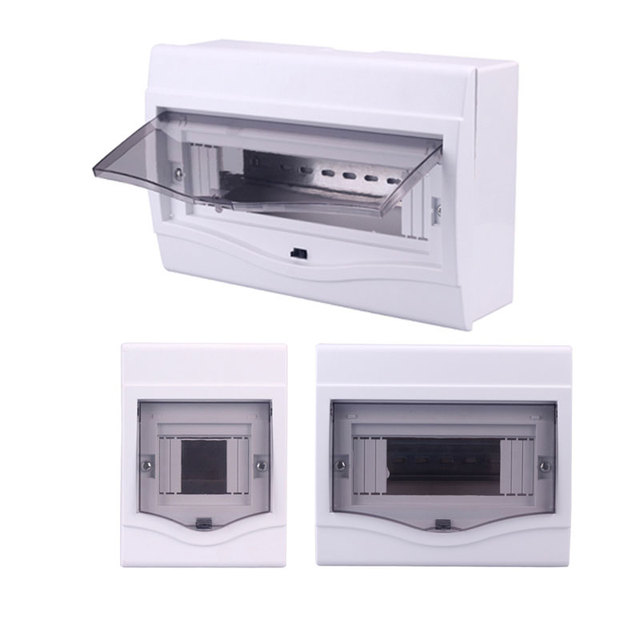 Electrical distribution box home lighting box 2-4/5-8/9-12 ways surface mounted circuit breaker distribution box indoor on wall