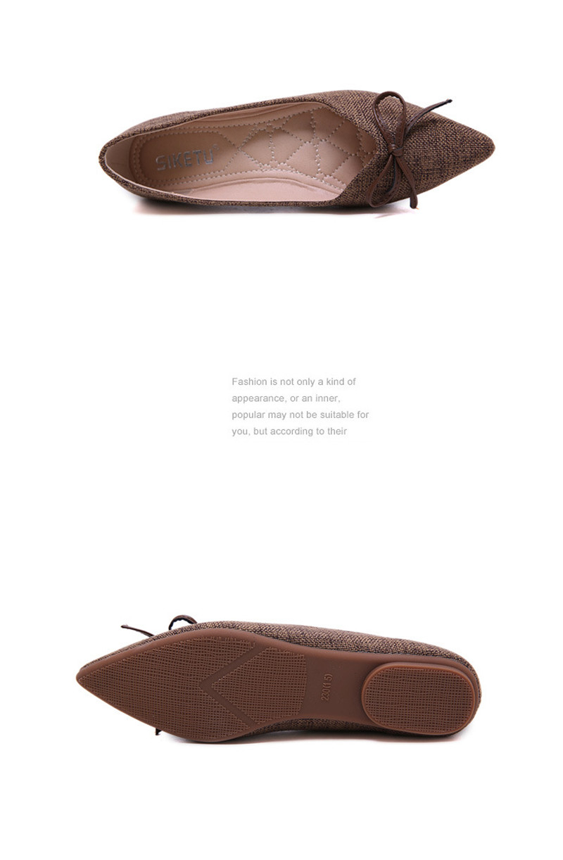 Women Ballerinas Flats Fashion Bowtie Shallow Mouth Slip-on Women Flats Concise Ladies Casual Flat Shoes Ballet Flats For Women (31)
