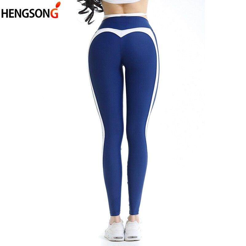 Frauen Hohe Taille Leggings Jeggings Casual Mode Elastische Fitness Leggings ankle-länge Hosen Herz Muster Legging Legins
