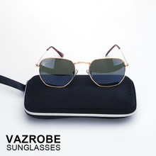 Vazrobe Small Hexagonal Sunglasses Men Women Vintage Hexagon Glasses Cool Color Lens Metal Sunglass 2017 Brand Steampunk Goggles