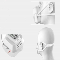 Electric Anti Dust Mask Battery Operated Masks Electronic Filte Fog And Haze Pm2.5 Active Air Supply Full flow Seal Multi color