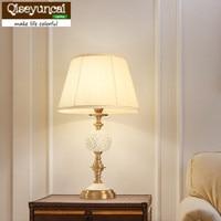 Qiseyuncai 2018 neue Amerikanischen kupfer keramik tisch lampe einfache ländlichen wohnzimmer studie kunst tisch lampe schlafzimmer nacht lampen|LED-Tischleuchten|   -