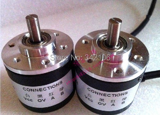Free Shipping!!!  5pcs 400 Line Encoder / Optical Rotary Encoder / AB With 400 Pulses / Wiring 2 M