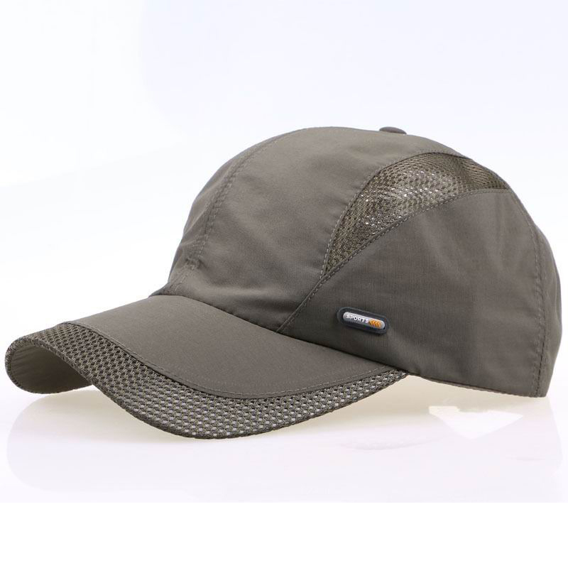 fc15786dc3d 2017 mesh hat male leisure baseball cap female breathable visor bone brim  short hats golf sun hats-in Baseball Caps from Apparel Accessories on ...