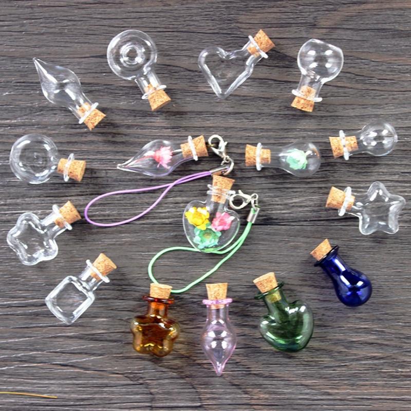5 Pcs/lot Mini Bottle FOR YOU lavender Mini Clear Cork Stopper Glass Bottles Small Wishing Bottle Size 25*30mm 2C0097