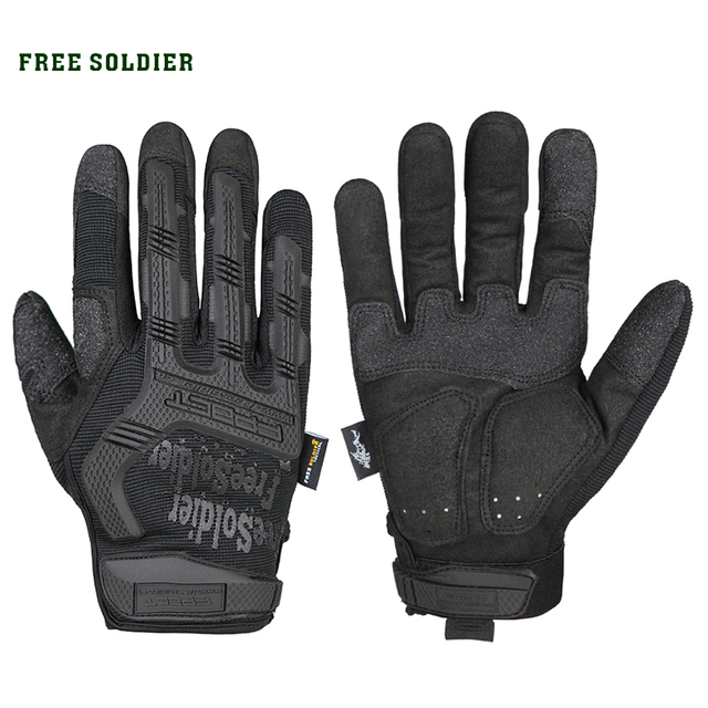 FREE SOLDIER outdoor hiking cycling training sport tactical gloves men full finger Wear non-slip protection gloves