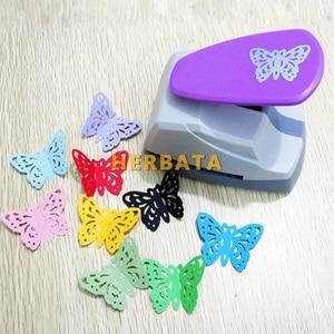 Image 2 - Бесплатная доставка, 4,7 см, Дырокол в форме бабочки 3D, резак для бумаги для поздравительной открытки, ручной работы, Дырокол