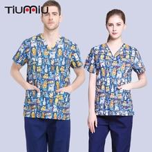 Unisex Scrub Sets High Quality Pharmacy Doctor Cloth Nurse Uniform Hospital Medical Beauty Surgical Jacket+Pants