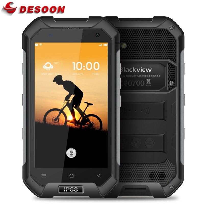Цена за Оригинальный ip68 водонепроницаемый оригинал blackview bv6000s 4 г мобильный телефон android 6.0 quad core 2 ГБ + 16 ГБ 4200 мАч смартфон
