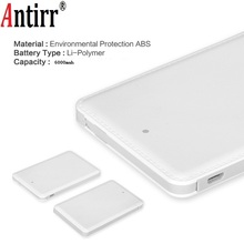 Antirr Portable Mini Ulter Slim Credit Card Wallet Size Power Bank 6000mAh Cell Phone Trav