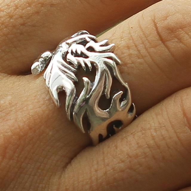 Gift accessories fashion vintage lovers thai silver 925 pure silver hot-selling male ring finger ring male 925 pure silver ring shar pei dog ring bulldog thai silver ring vintage finger ring