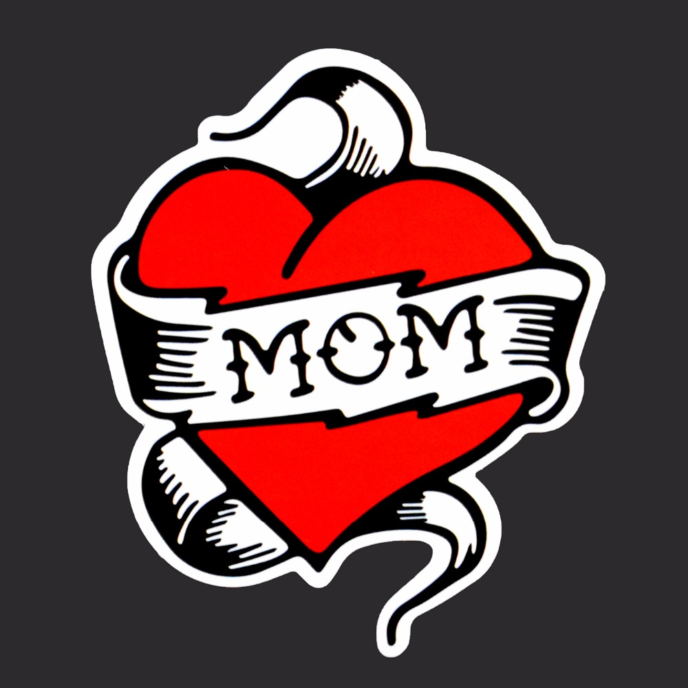 Moms Love Single Tied Brand Stickers Cool Car Styling JDM Decals Laptop Luggage Fridge Waterproof Graffiti Sticker A-52