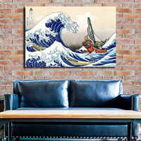 The Legend Of Zelda Windwaker The Great Wave Art Canvas Poster Oil Painting Wall Picture Print Home Bedroom Decoration Artwork